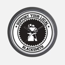 Support Blacksmith Wall Clock
