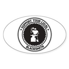 Support Blacksmith Oval Decal