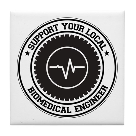 Support Biomedical Engineer Tile Coaster