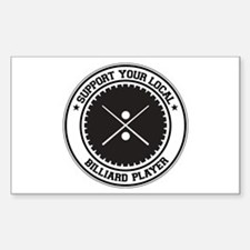 Support Billiard Player Rectangle Decal