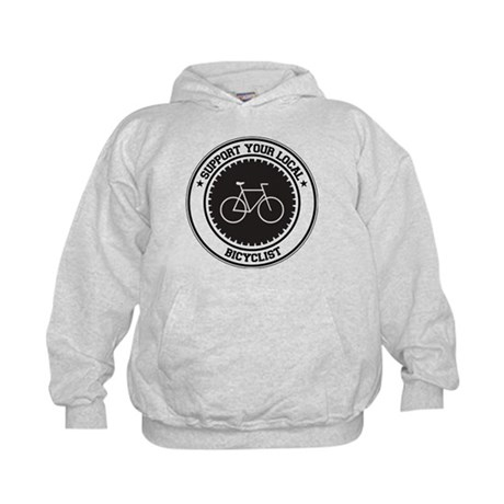 Support Bicyclist Kids Hoodie