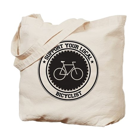 Support Bicyclist Tote Bag