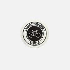 Support Bicyclist Mini Button