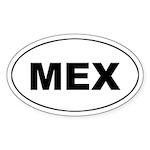 Mexico (MEX) Oval Sticker