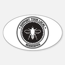 Support Beekeeper Oval Decal