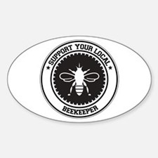 Support Beekeeper Oval Stickers