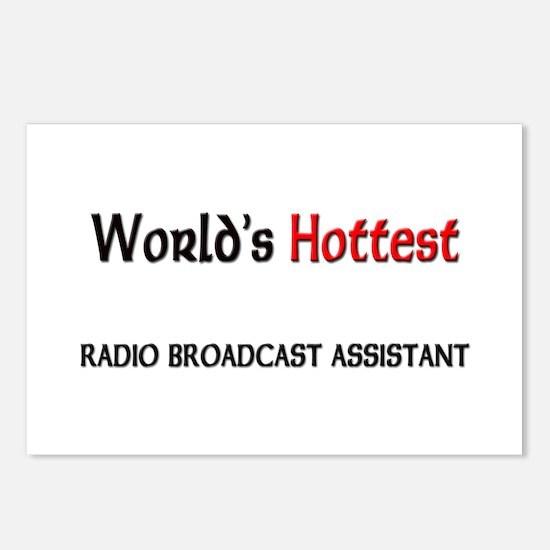 World's Hottest Radio Broadcast Assistant Postcard