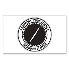 Support Bassoon Player Rectangle Decal