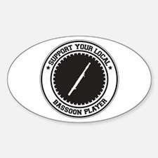 Support Bassoon Player Oval Decal