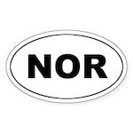 Norway (NOR) Oval Sticker