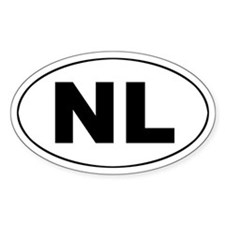 Dutch / The Netherlands (NL) Oval Stickers