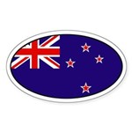 New Zealand Flag Oval Sticker