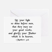 """""""Let your Light Shine"""" [text] Greeting Cards"""