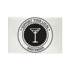 Support Bartender Rectangle Magnet