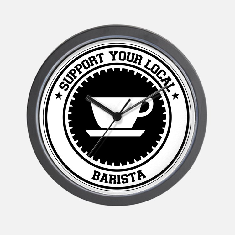 Support Barista Wall Clock