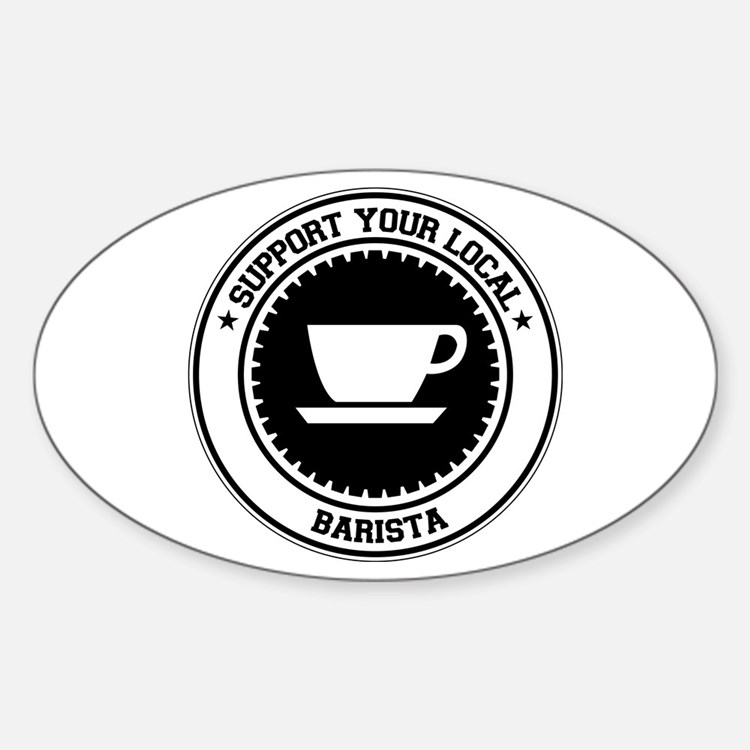 Support Barista Oval Decal