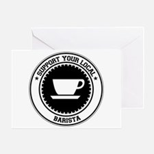 Support Barista Greeting Card