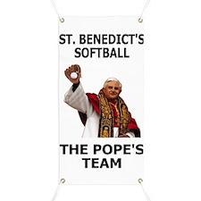 Saint Benedict Softball Banner