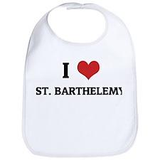 I Love St. Barthelemy Bib