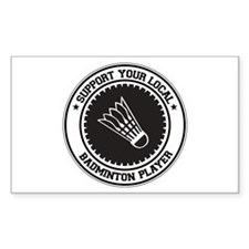 Support Badminton Player Rectangle Decal