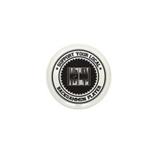 Support Backgammon Player Mini Button (10 pack)