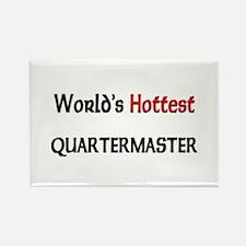 World's Hottest Quartermaster Rectangle Magnet