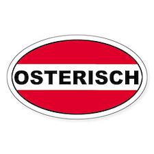 Austrian (Osterisch) Flag Oval Decal