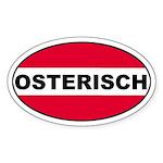Austrian (Osterisch) Flag Oval Sticker