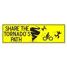 share the tornado path Bumper Bumper Sticker