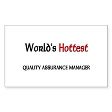 World's Hottest Quality Assurance Manager Decal