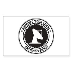Support Astrophysicist Rectangle Sticker 50 pk)