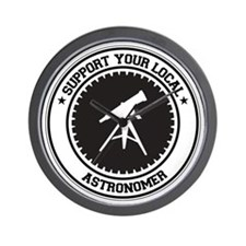 Support Astronomer Wall Clock