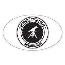 Support Astronomer Oval Decal