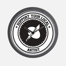 Support Artist Wall Clock