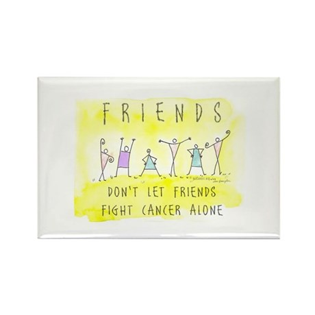 Cancer Friends Rectangle Magnet (100 pack)