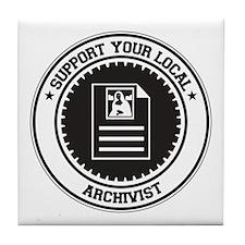 Support Archivist Tile Coaster