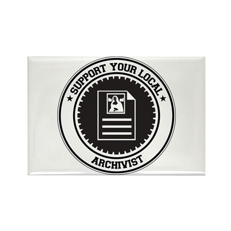 Support Archivist Rectangle Magnet