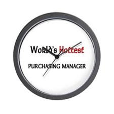 World's Hottest Purchasing Manager Wall Clock