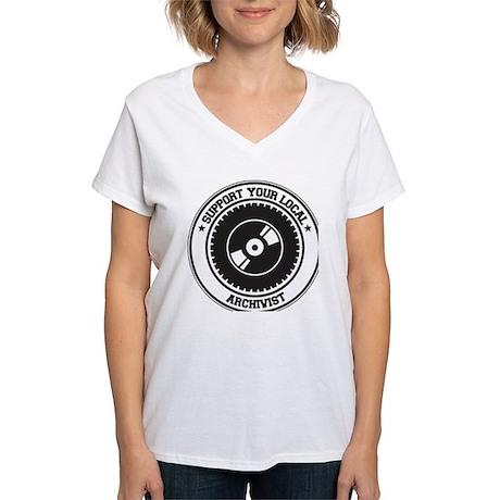 Support Archivist Women's V-Neck T-Shirt