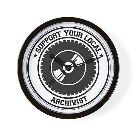 Support Archivist Wall Clock