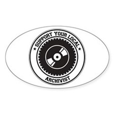 Support Archivist Oval Decal