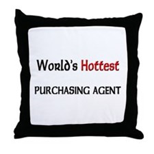 World's Hottest Purchasing Agent Throw Pillow