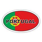 Portugal (PRT) Flag Oval Sticker