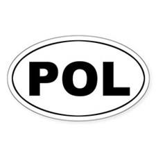 Poland (POL) Oval Decal