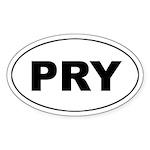 Paraguay (PRY) Oval Sticker