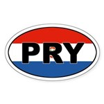 Paraguay (PRY) Flag Oval Sticker