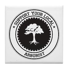 Support Arborist Tile Coaster