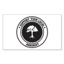 Support Arborist Rectangle Decal