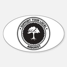 Support Arborist Oval Decal