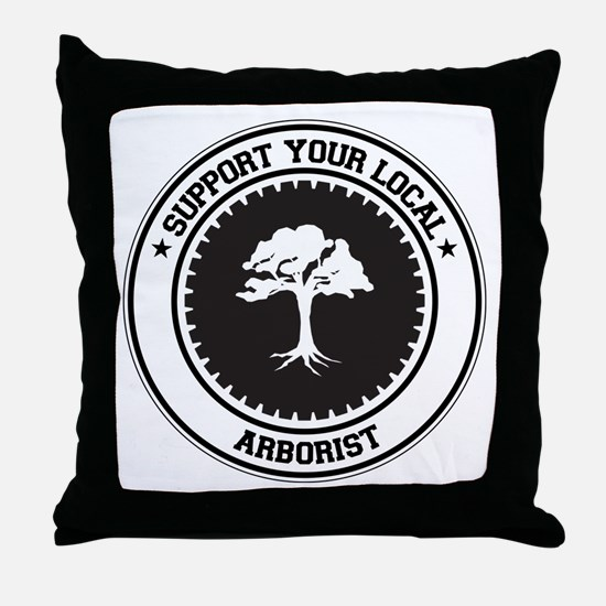 Support Arborist Throw Pillow